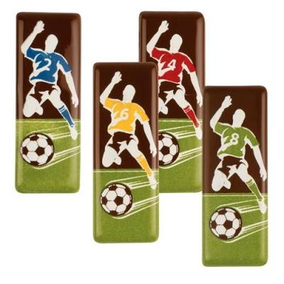 Aufleger, Fußballer, dunkle Schokolade, sortiert