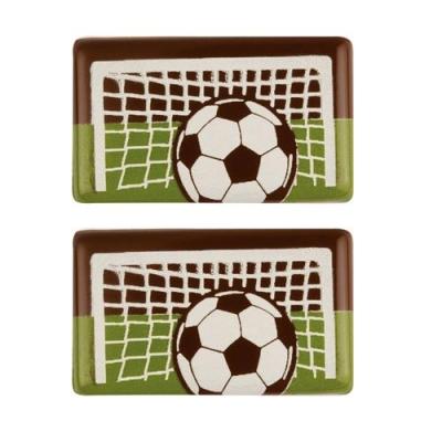 Aufleger Fußball, dunkle Schokolade