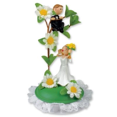 1 St. Poly-Brautpaar-Aufsatz, klein