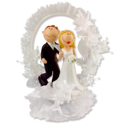 1 St. Poly-Brautpaar-Aufsatz
