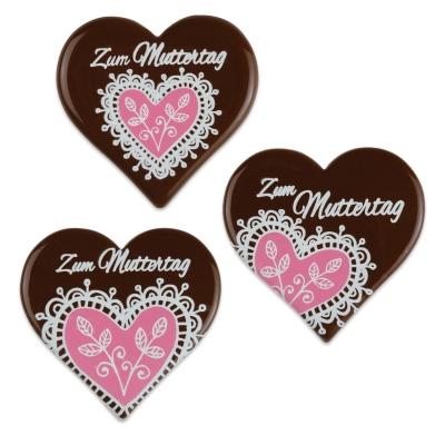 30 St. Herz  Zum Muttertag , dunkle Schokolade