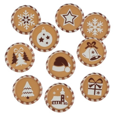 Aufleger Weihnachten, Karamellschokolade, sortiert