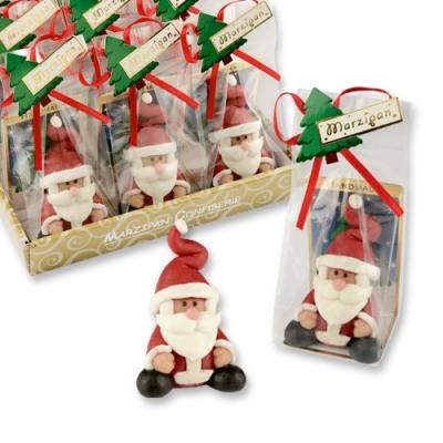 Marzipan-Nikolaus im Cellophanbeutel und Tray