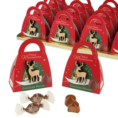 Pralinen-Täschchen Weihnachten gefüllt mit Pralinen