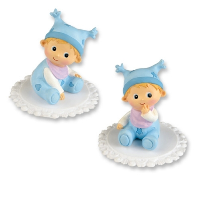 2 St. Poly-Aufsatz mit Baby,blau